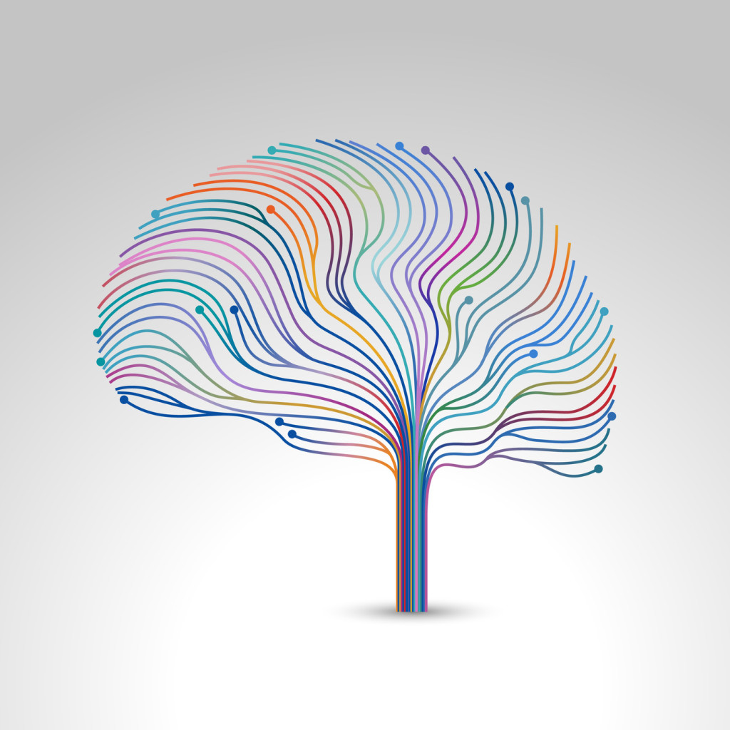 Creative concept of the brain, vector illustration